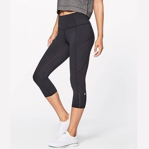 Lululemon | Fast and Free Crop Black